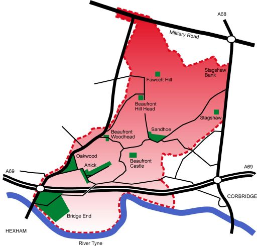 Sandhoe parish map